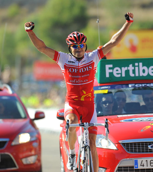 David Moncoutie wins, Vuelta a Espana 2010, stage 8