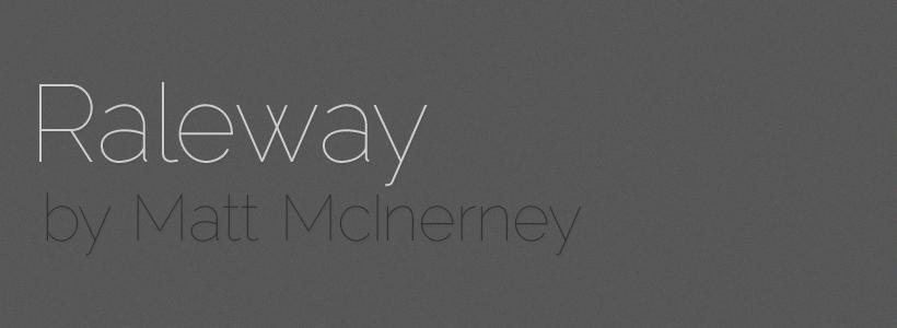 Best free fonts: Raleway