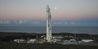 A SpaceX Falcon 9 rocket stands atop Space Launch Complex 4E at Vandenberg Air Force Base in California in this file photo. SpaceX's next Falcon 9's launch is now aimed for Feb. 21, 2018.