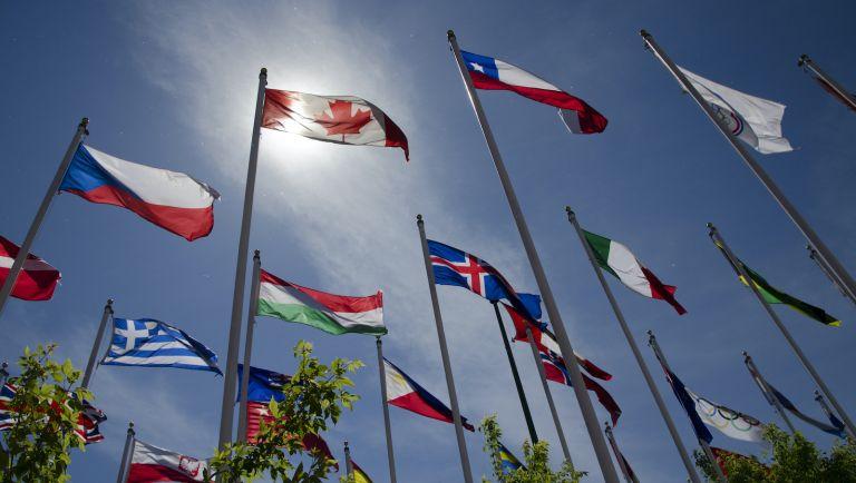Calgary Olympic flags