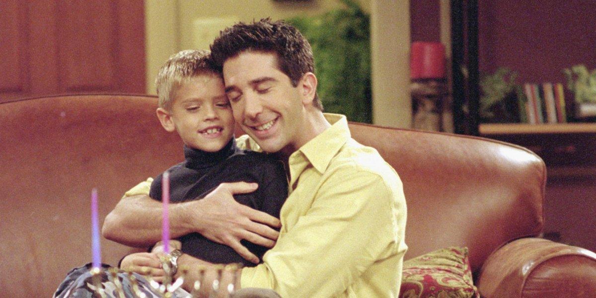 Cole Sprouse alongside David Schwimmer in Friends.