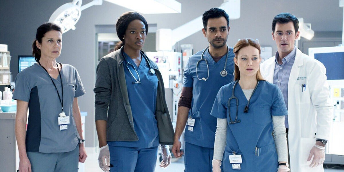 Some of the cast of Transplant.