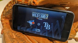 MLB Tampa Bay Rays vs. Toronto Blue Jays Wild Card 2020 iPhone in Glove