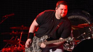 Wolfgang Van Halen of Van Halen performs at Shoreline Amphitheatre on July 16, 2015 in Mountain View, California.