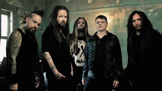 A press shot of Korn taken in 2016