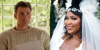 Chris Evans in Knives out and Lizzo in Truth Hurts music video