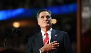 Republican presidential nominee Mitt Romney at the 2012 Republican National Convention