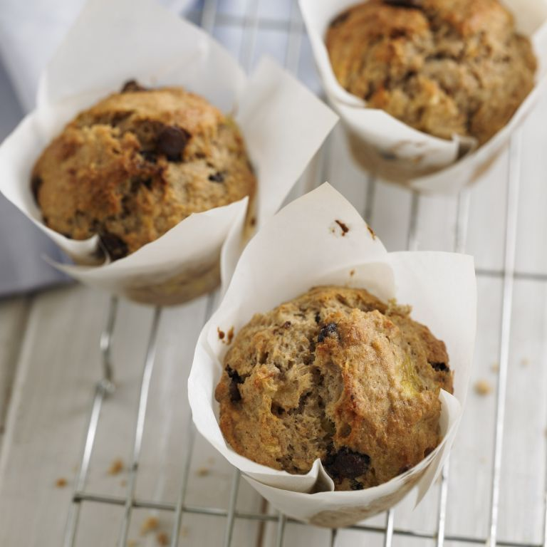 Banana Choc Chip Muffins recipe-chocolate recipes-recipe ideas-new recipes-woman and home