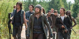 the walking dead season 6 jesus leading group