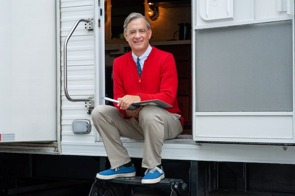 Tom Hanks as Fred Rogers in Mr. Rogers biopic