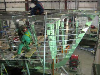 USGS floating laboratories under construction.