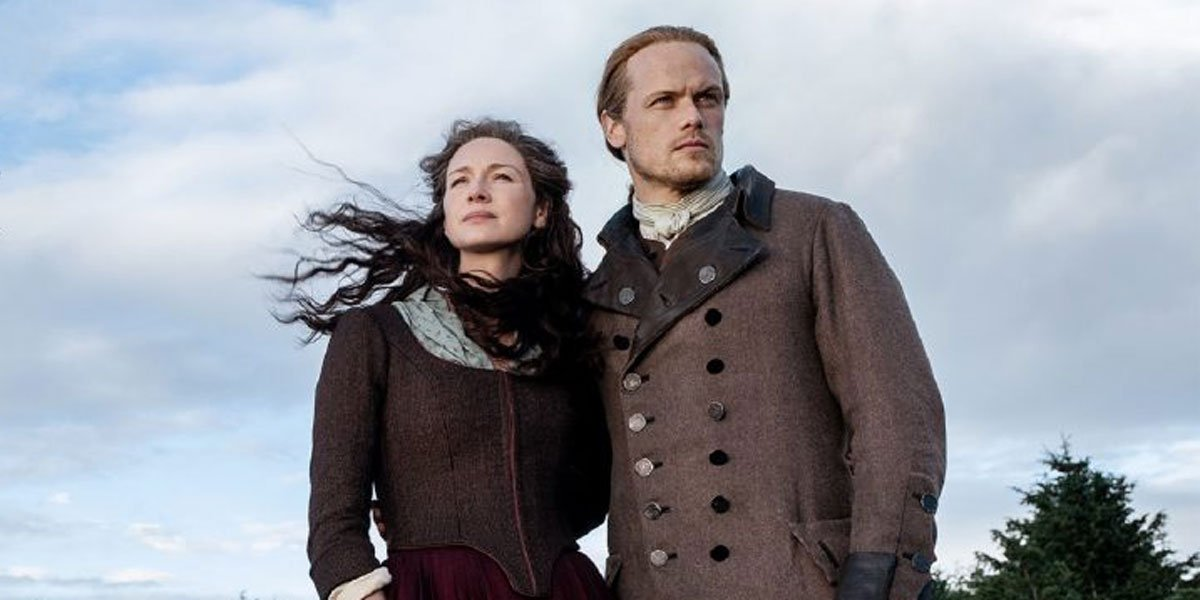 Caitriona Balfe and Sam Heughan in Outlander 2020