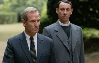 Grantchester S4 3/6: Pictured:ROBSON GREEN as Geordie Keating and AL WEAVER as Leonard Finch.