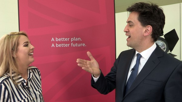 Lydia Bright and Ed Miliband talk about the 18-30 voter turnout