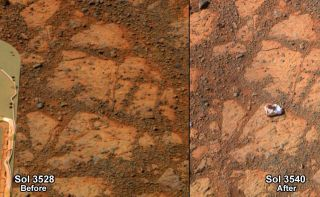 'Pinnacle Island' Rock on Mars