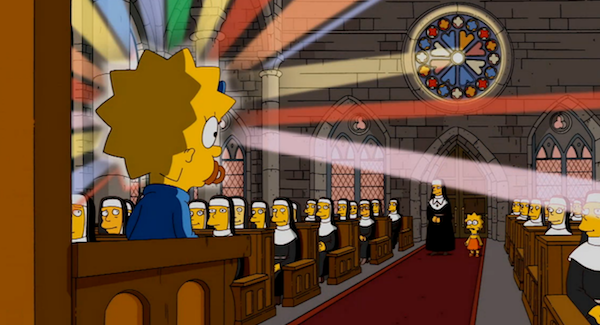 gone maggie gone rainbows the simpsons