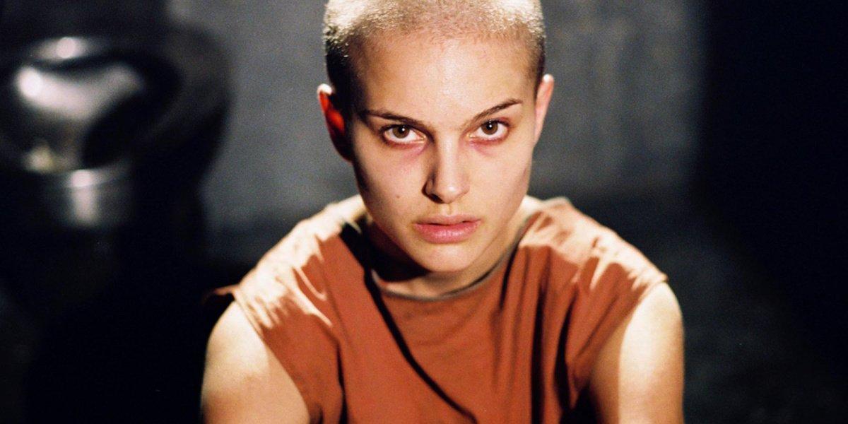Natalie Portman in V for Vendetta.