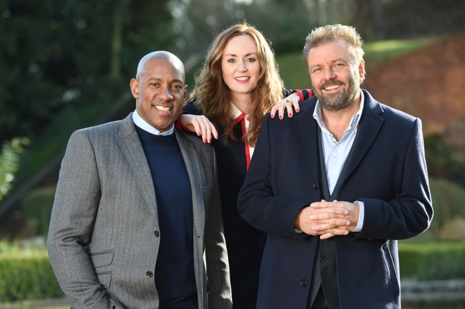 Homes Under the Hamme presenters Dion Dublin, Martel Maxwell and Martin Roberts