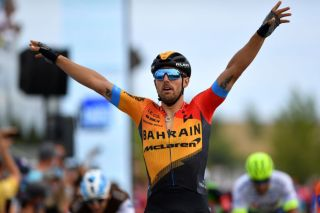 Bahrain McLaren's Sonny Colbrelli wins stage 2 of the 2020 Route d'Occitanie