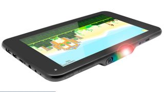 Oh look, it's an Android Jelly Bean tablet with a 100-inch projector
