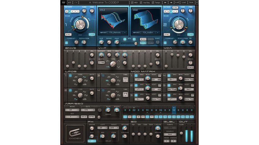waves releases codex wavetable plugin synth musicradar. Black Bedroom Furniture Sets. Home Design Ideas