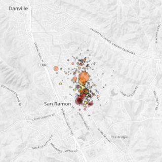 San Ramon Earthquake Swarm