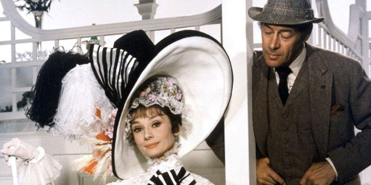 Audrey Hepburn on the left