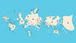 Global Map of Domain Names