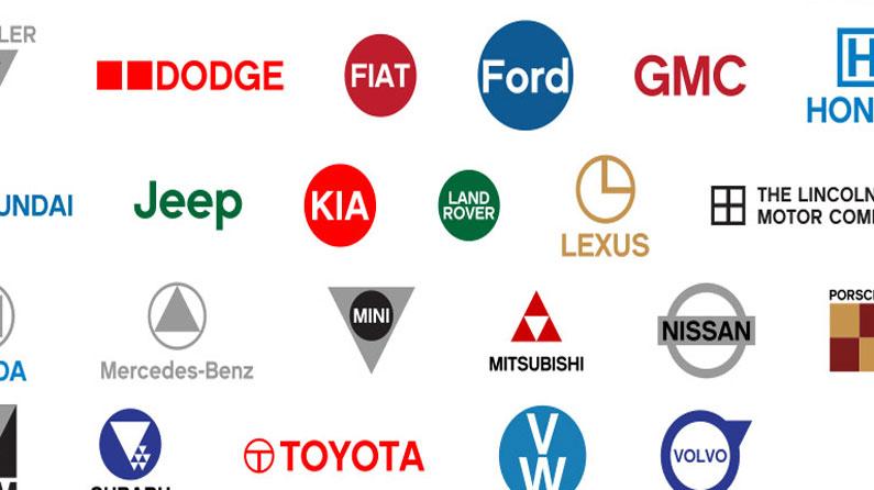 Famous Car Logos Get Flat Design Reworking Creative Bloq