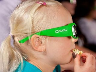Dolby glasses: Kid-friendly apparently = lurid