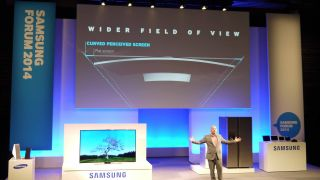 Samsung: Curved TVs are the logical step for 4K in the home