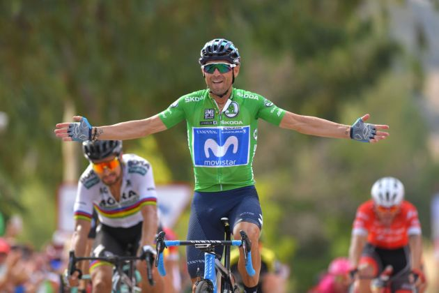 1bcdb06fa Alejandro Valverde takes his second win at Vuelta a España 2018 on stage  eight ahead of Peter Sagan