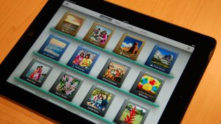 Apple iPad e-book menu