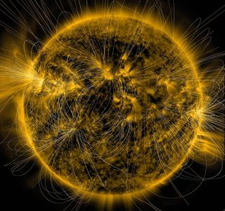 The Sun's Magnetic Field Lines