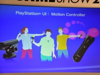 The PS3 motion controller - looks a bit like an old Zipstick without the base.