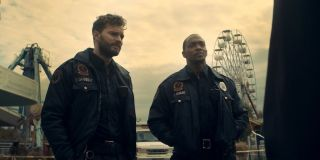 Jamie Dornan and Anthony Mackie in 'Synchronic'