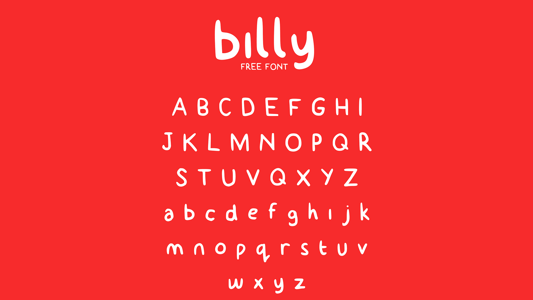 Free handwriting fonts: Billy