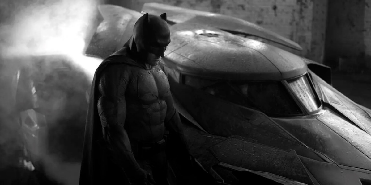Ben Affleck with the Batmobile