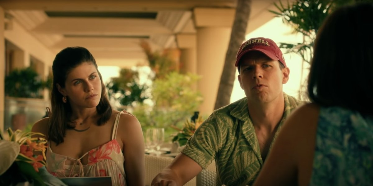 Alexandra Daddario and Jake Lacy on The White Lotus