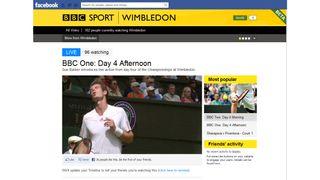 BBC Sport app hits Facebook to live stream Wimbledon Olympics