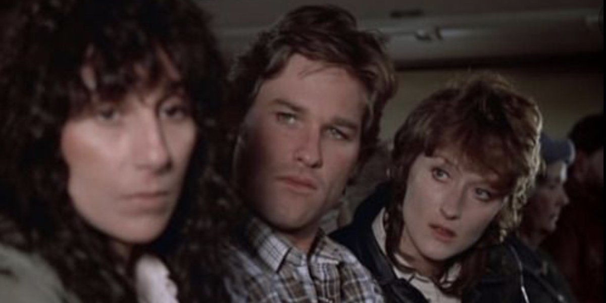 Cher, Kurt Russell, and Meryl Streep in Silkwood