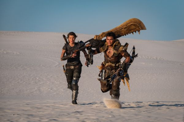 Milla Jovovich and Tony jaa in Monster Hunter