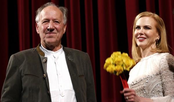 Werner Herzog and Nicole Kidman