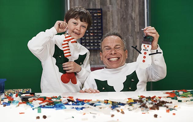 Lego Masters Christmas Special - Harry and celebrity helper Warwick Davies