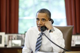 President Obama calls the space shuttle