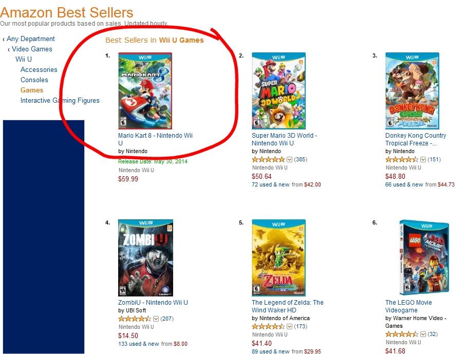 Mario Kart Becomes Wii Us BestSeller On Amazon Passes PS - Ps4 spiele minecraft amazon