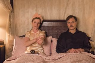 The Singapore: Grip: Jane Horrocks and David Morrissey as the Blacketts before the war kicks off.