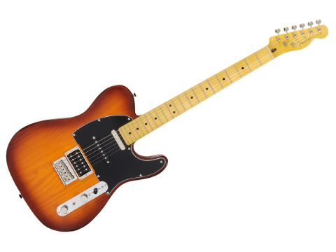 A humbucker, plus a Strat and Tele singlecoil mean this pine slab can handle most styles