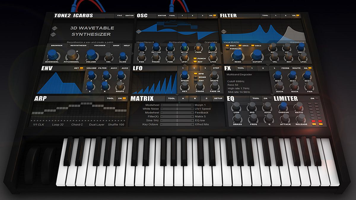 tone2 39 s icarus plugin synth is now available musicradar. Black Bedroom Furniture Sets. Home Design Ideas