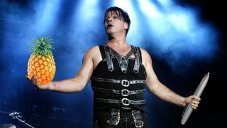 Rammstein's Till Lindemann. Pineapple and pen were Photoshopped